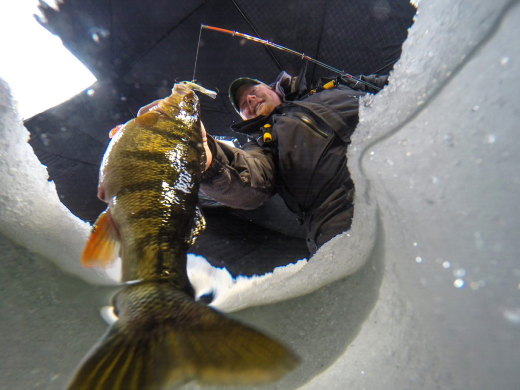 "Brian ""Bro"" Brosdahl ice fishing"