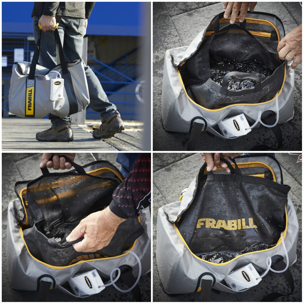 The Frabill three-part weigh bag system is a conservation-minded solution for tournament weigh-ins.