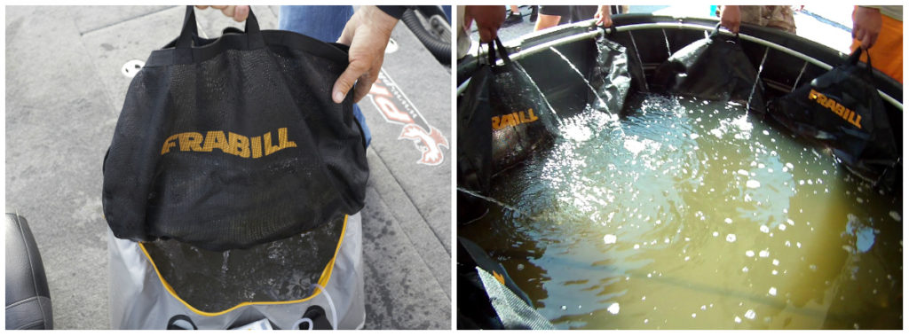 Frabill's Weigh Bag System promotes safe catch and release.