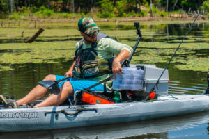 The Plano V-Crate is well thought-out to maximize storage space when kayak fishing.
