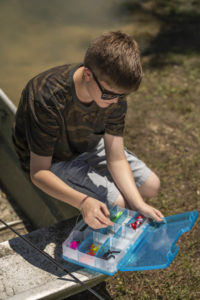 Let's Fish Satchels are the perfect size for kids to manage on their own.