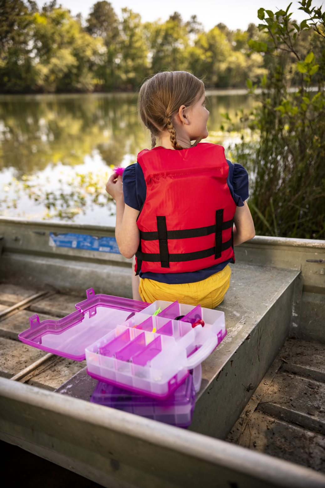 Let's Fish Satchels include a 70-piece starter set of fishing tackle to get kids off on the right foot.
